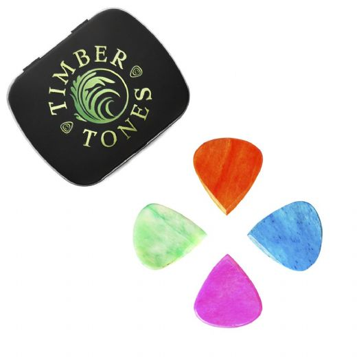 Jazzy Tones Mixed Tin of 4 Guitar Picks